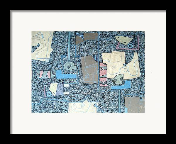 Framed Print featuring the painting Composition Vii 03 by Maria Parmo