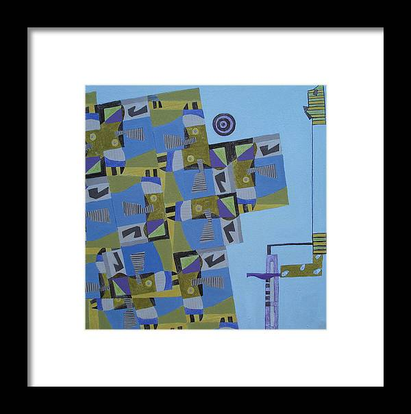 Abstract Art Framed Print featuring the painting Composition Xi-07 by Maria Parmo