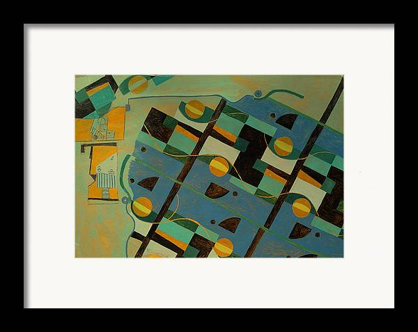 Abstract Art Framed Print featuring the painting Composition Xxi 07 by Maria Parmo