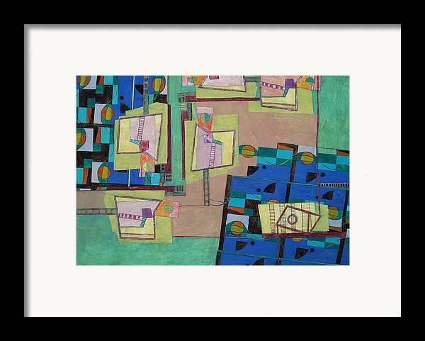Abstract Art Framed Print featuring the painting Composition Xxii 07 by Maria Parmo