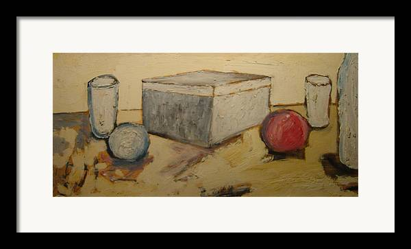 Framed Print featuring the painting Composizione by Biagio Civale