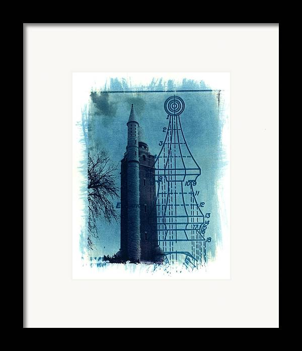 Alternative Process Photography Framed Print featuring the photograph Compton Blueprint by Jane Linders