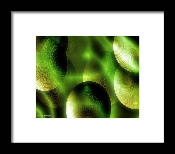 Abstract Framed Print featuring the painting Conception by Dreamlight Creations