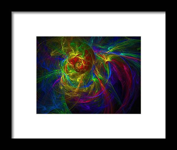 Abstract Framed Print featuring the digital art Conceptual Alchemy by Lyle Hatch