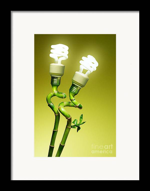 Alternative Framed Print featuring the photograph Conceptual Lamps by Carlos Caetano