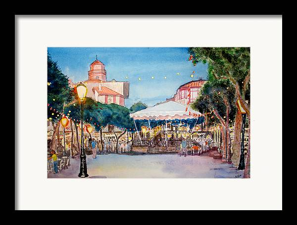 Cityscape Framed Print featuring the painting Concert To St Jean-de-luz by Aymeric NOA