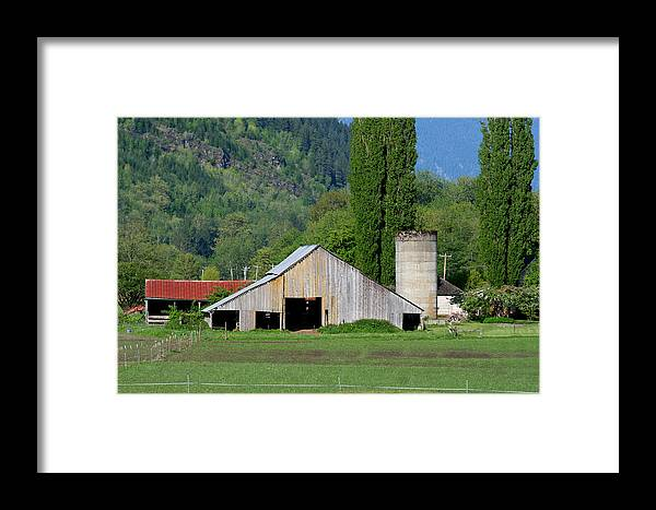 Barn Framed Print featuring the photograph Concrete Barn Summer Ba-2008 by Mary Gaines