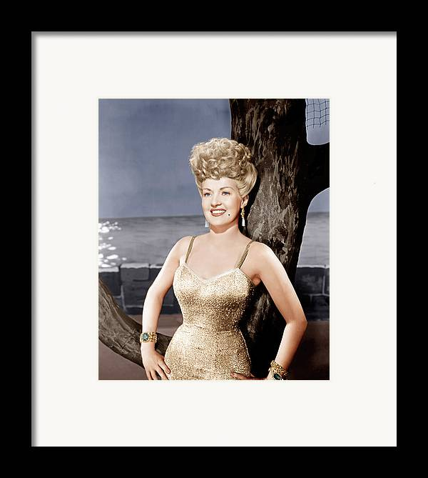 1940s Portraits Framed Print featuring the photograph Coney Island, Betty Grable, 1943 by Everett