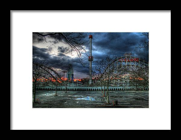 Cyclone Framed Print featuring the photograph Coney Island by Bryan Hochman