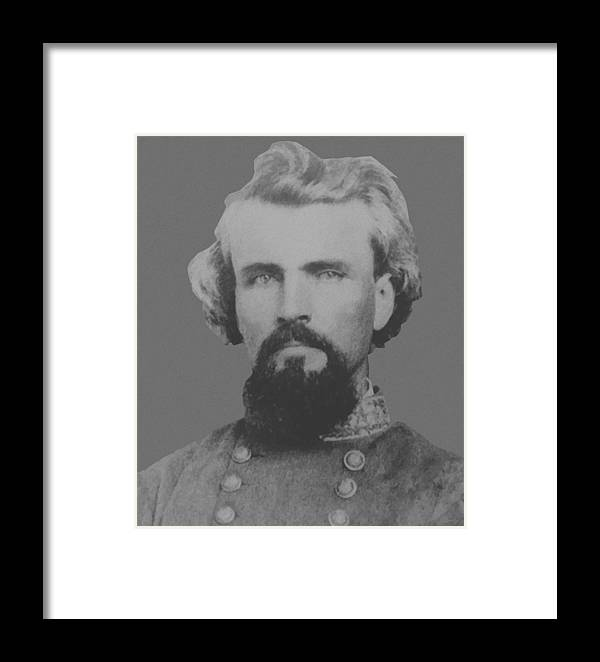 Nathan Bedford Forrest Framed Print featuring the painting Confederate General Nathan Forrest by War Is Hell Store