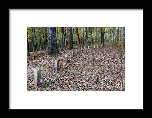 Unknown Soldier Framed Print featuring the photograph 13 Unknown Confederate Soldiers - Natchez Trace by Debra Martz