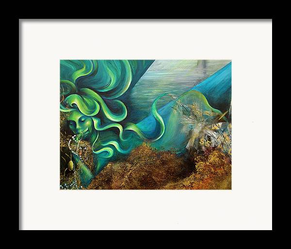 Ocean Framed Print featuring the painting Confessions Of A Mermaid by Dina Dargo
