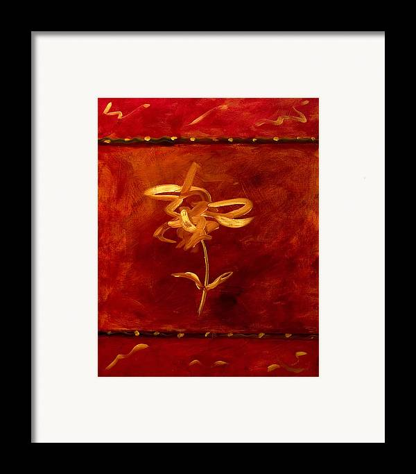 Abstract Framed Print featuring the painting Confidence by Shannon Grissom