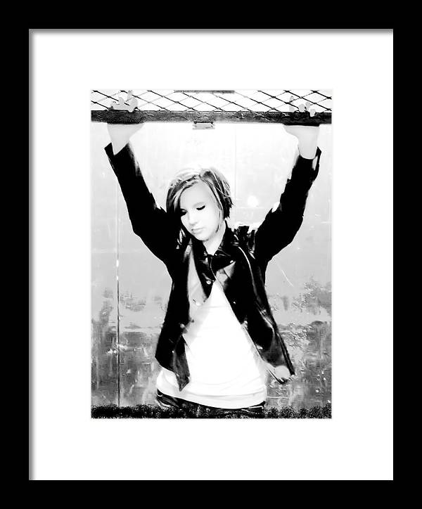Portrait Framed Print featuring the photograph Confined by Kristie Bonnewell