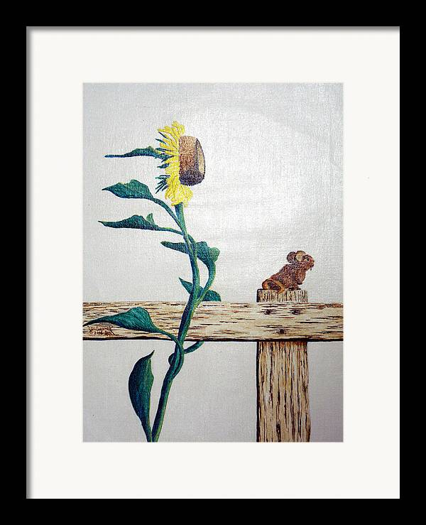 Still Life Framed Print featuring the painting Confluence by A Robert Malcom