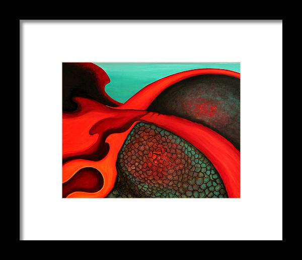 Confluence Framed Print featuring the painting Confluence by Bonnie Kelso