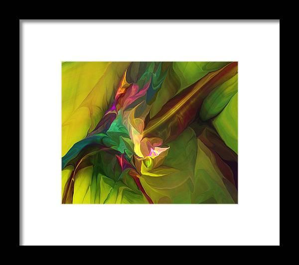 Fine Art Framed Print featuring the digital art Confluence by David Lane