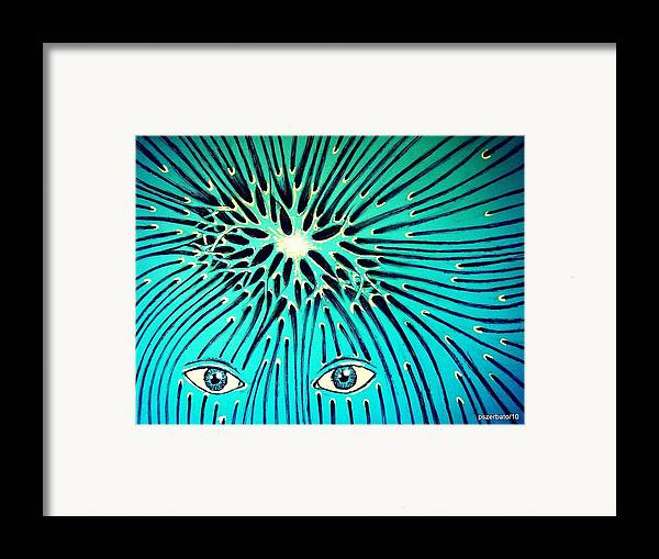 Confluence Framed Print featuring the digital art Confluence by Paulo Zerbato