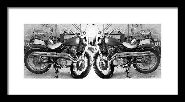Motor Cycle Framed Print featuring the photograph Confrontation With Death by Gerard Yates