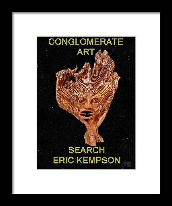 Conglomerate Art Framed Print featuring the mixed media Conglomerate Art by Eric Kempson