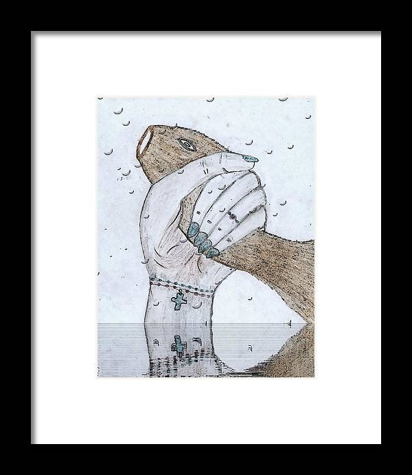 Congratulations Framed Print featuring the mixed media Congratulations by Lucy Mugambi