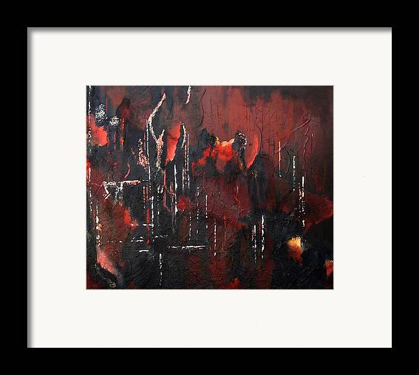 Original Acrylic Abstract Framed Print featuring the painting Connected by Sharon Steinhaus