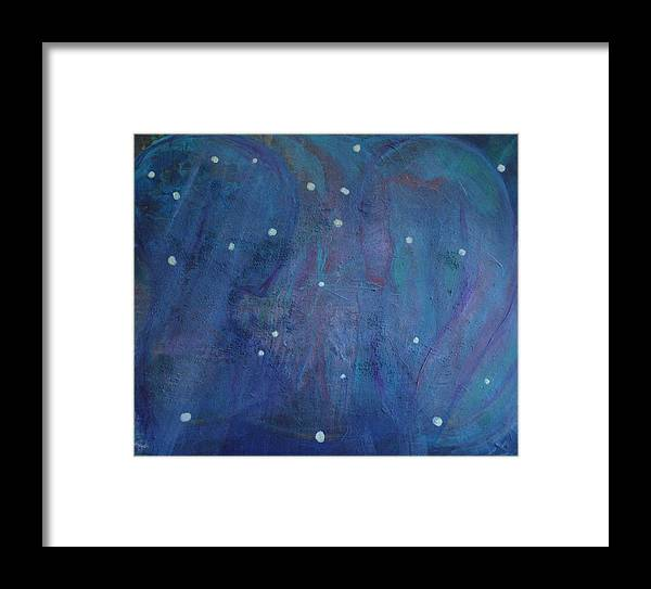 Connection Framed Print featuring the painting Connection by Margaret Fronimos
