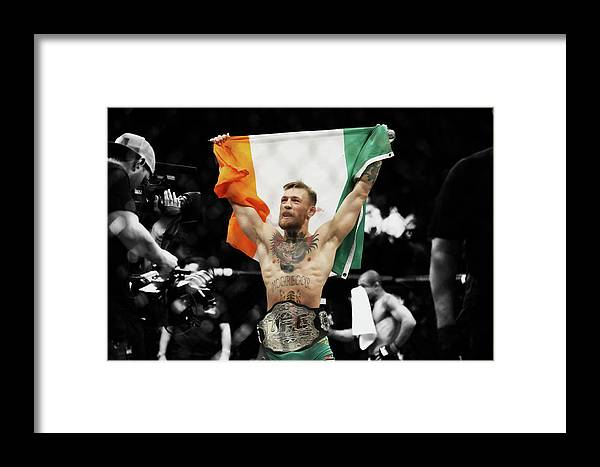 Conor Mcgregor Framed Print featuring the mixed media Conor Mcgregor 2b by Brian Reaves