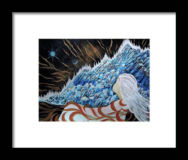 Dreamer Framed Print featuring the painting Conscious Dream by Pam Ellis
