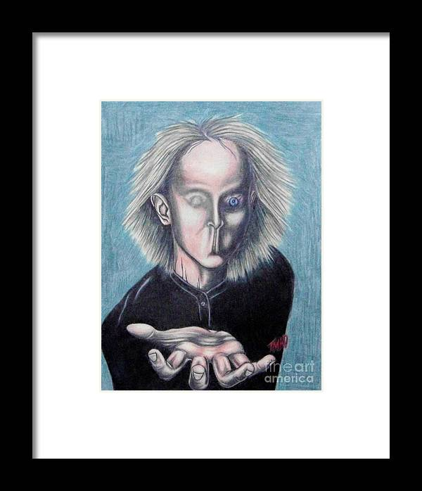 Tmad Framed Print featuring the drawing Consciousness by Michael TMAD Finney