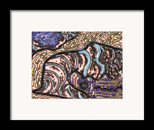 Abstsract Framed Print featuring the digital art Consilience by James Eugene Albert