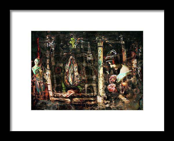 Bruce Framed Print featuring the digital art Conspiracy Of Silence by Bruce Neeley