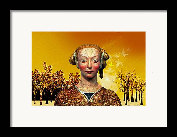 Portrait Framed Print featuring the digital art Constance by Sabine Stetson