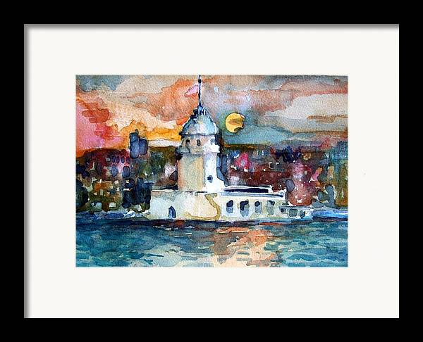 Constantinople Framed Print featuring the painting Constantinople Turkey by Mindy Newman