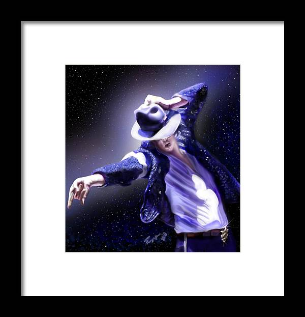 Michael Jackson Framed Print featuring the painting Constellation - Slot 89 by Reggie Duffie