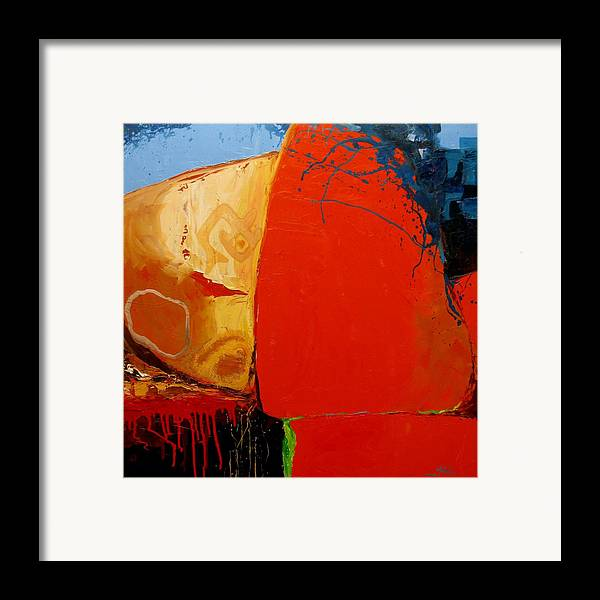 Abstract Framed Print featuring the painting Construct by David McKee