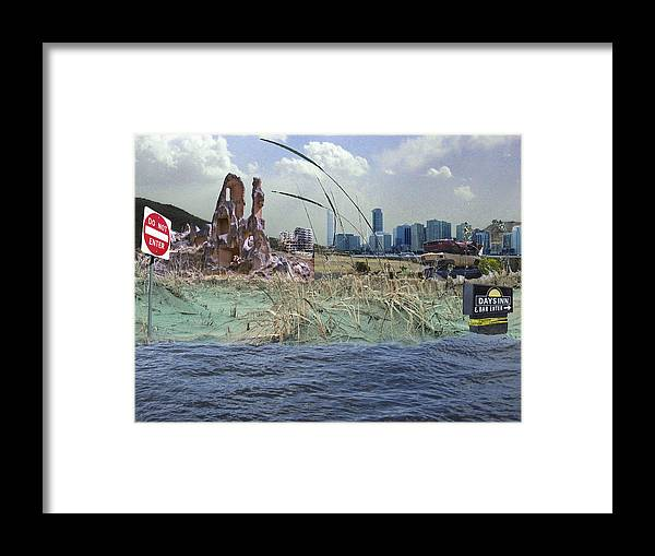 Landscape Framed Print featuring the photograph Constructed Landscape No.3 by Peter Pfeffer