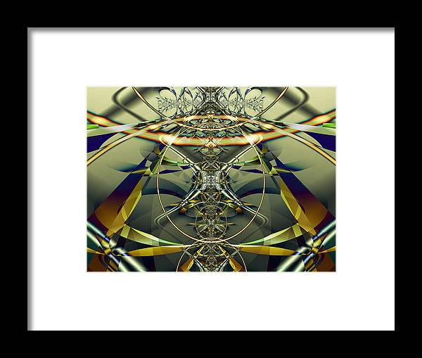 Fractal Framed Print featuring the digital art Construction Rings by Frederic Durville