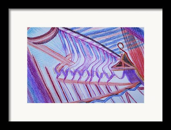 Abstract Framed Print featuring the painting Construction by Suzanne Udell Levinger