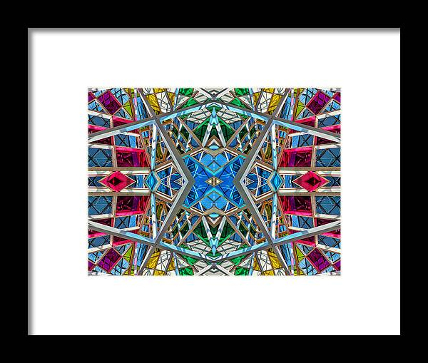 Abstract Framed Print featuring the photograph Constructurropolis by Nenad Cerovic