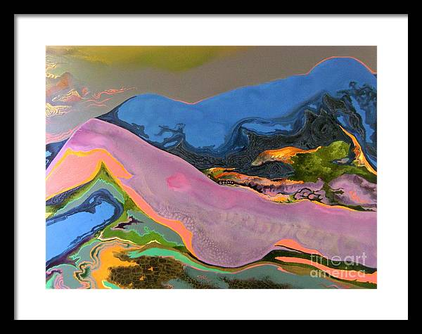 Figurative Framed Print featuring the painting Consummation-2 by Padmakar Kappagantula