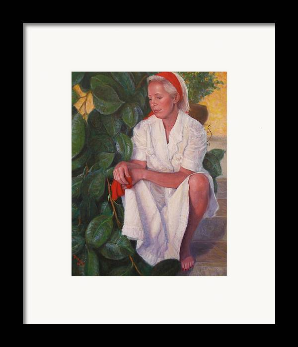 Realism Framed Print featuring the painting Contemplation by Donelli DiMaria