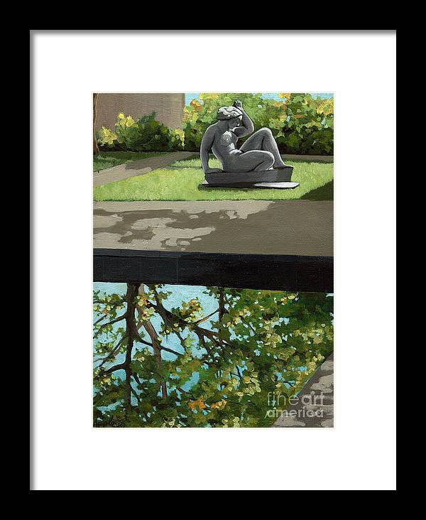 Landscape Painting Framed Print featuring the painting Contemplation by Linda Apple