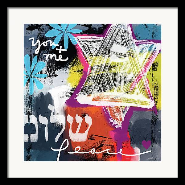 Contemporary Peace Star- Judaic Art by Linda Woods by Linda Woods
