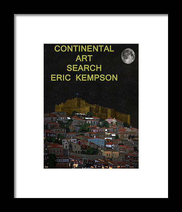 Continental Art Framed Print featuring the mixed media Continental Art by Eric Kempson