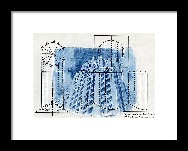 Continental life building cyanotype blueprint architecture framed cyanotype framed print featuring the photograph continental life building cyanotype blueprint architecture by jane linders malvernweather Image collections