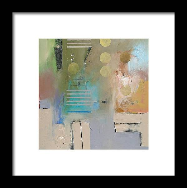 Original Framed Print featuring the painting Conundrum by Linda Monfort