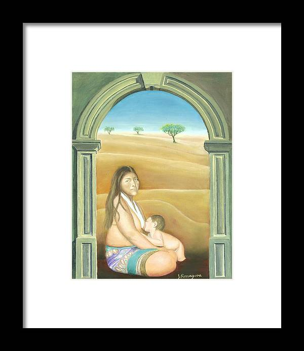Nursing Framed Print featuring the painting Convent Dream by Juan Romagosa