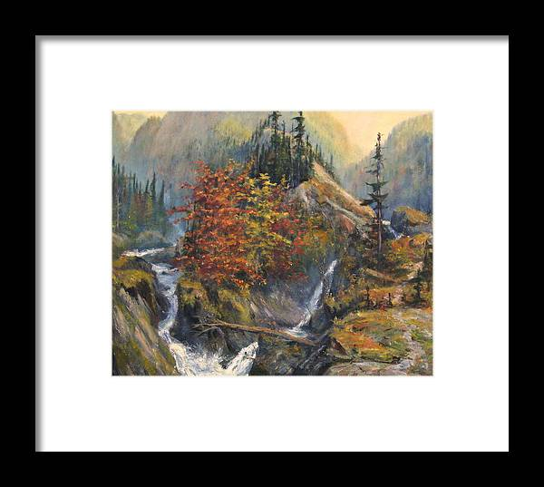 Landscape Framed Print featuring the painting Convergence by Craig shanti Mackinnon