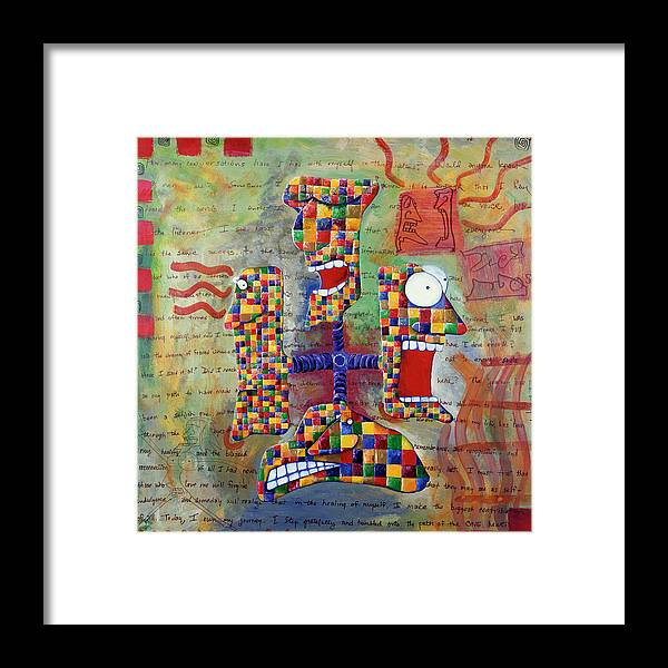 Gallery Framed Print featuring the painting Conversations by Dar Freeland